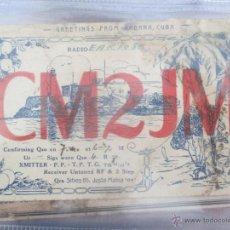 Radios antiguas: QSL CM2JM, LA HABANA, CUBA, RADIOAFICIONADO TARJETA, JUSTO MAHIA. AÑOS 30. Lote 51531872