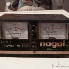 Radios antiguas: VATIMETRO Y MEDIDOR DE ESTACIONARIA NAGAI MODELO 14. Lote 52137172