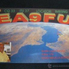 Radios antiguas: MELILLA TARJETA RADIO AFICIONADOS EA9FU 22.MAY.2003. Lote 52770351