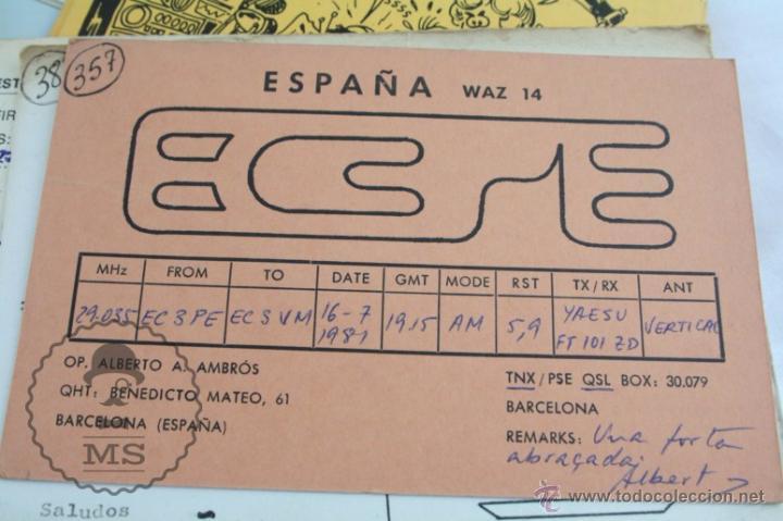 Radios antiguas: Conjunto de Más de 250 Tarjetas de Radioaficionados - Diferentes Localidades - Años 80 - Radio - Foto 4 - 52776161