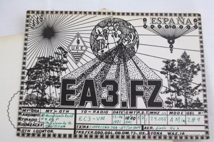 Radios antiguas: Conjunto de Más de 250 Tarjetas de Radioaficionados - Diferentes Localidades - Años 80 - Radio - Foto 6 - 52776161