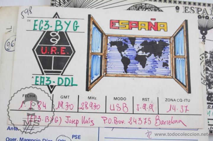 Radios antiguas: Conjunto de Más de 250 Tarjetas de Radioaficionados - Diferentes Localidades - Años 80 - Radio - Foto 8 - 52776161