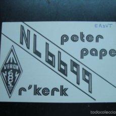 Radios antiguas: TARJETA POSTAL QSL RADIOAFICINADOS 1980 - NETHERLANDS. Lote 57532333