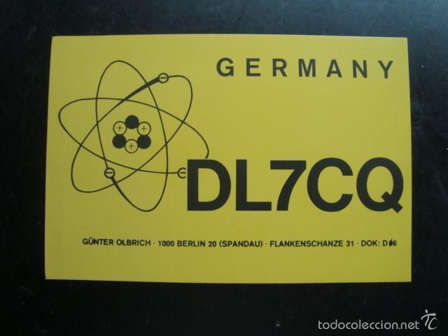 TARJETA POSTAL QSL RADIOAFICIONADOS 1975, BERLIN - ALEMANIA (Radios, Gramófonos, Grabadoras y Otros - Radioaficionados)