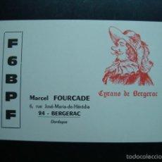 Radios antiguas: TARJETA POSTAL QSL RADIOAFICIONADOS 1971, BERGERAC- FRANCE - CYRANO DE BERGERAC. Lote 57534498