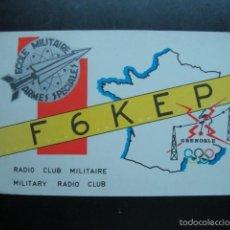 Radios antiguas: TARJETA POSTAL QSL RADIOAFICIONADOS 1972, RADIO CLUB MILITAIRE - GRENOBLE, FRANCIA. Lote 57543234