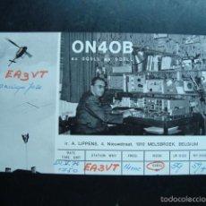 Radios antiguas: TARJETA POSTAL QSL RADIOAFICIONADOS 1972, MELSBROEK, BELGIUM - BELGICA. Lote 57543375