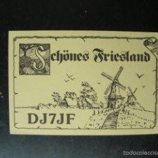 Radios antiguas: TARJETA POSTAL QSL RADIOAFICIONADOS 1980 - FRIESLAND - HOLANDA. Lote 57560663