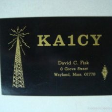 Radios antiguas: TARJETA POSTAL QSL RADIOAFICIONADOS 1980, WAYLAND, MASSACHUSETTS, ESTADOS UNIDOS. Lote 57572443