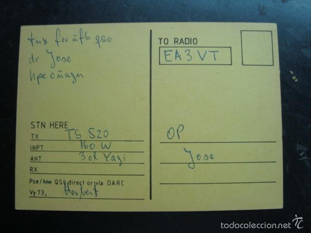 Radios antiguas: Tarjeta postal QSL radioaficionados 1983, nurnberg, alemania - nuremberg - Foto 2 - 57611115
