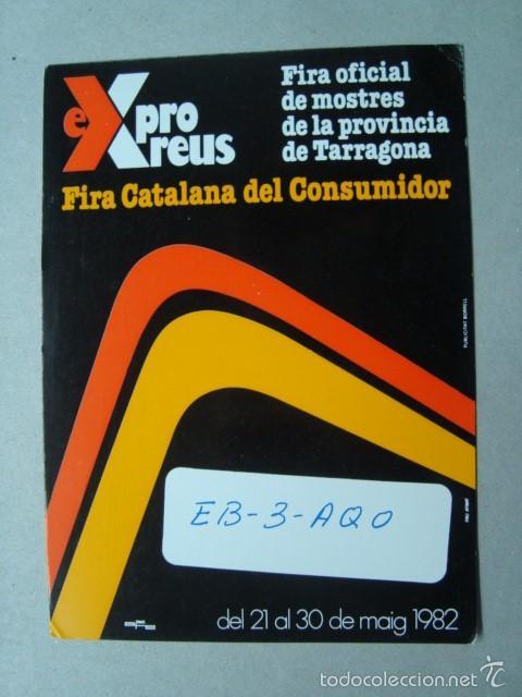 TARJETA POSTAL QSL RADIOAFICIONADOS, REUS, TARRAGONA, ESPAÑA 1983 - FIRA EXPRO REUS 1982 (Radios, Gramófonos, Grabadoras y Otros - Radioaficionados)