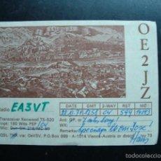 Radios antiguas: TARJETA POSTAL QSL RADIOAFICIONADOS, AUSTRIA 1974 - SALZBURG. Lote 57850021