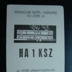 Radios antiguas: TARJETA POSTAL QSL RADIOAFICIONADOS, HUMGARY - HUNGRIA 1977 . Lote 57856669