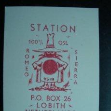 Radios antiguas: TARJETA POSTAL QSL RADIOAFICIONADOS - LOBITH, NETHERLANDS, PAISES BAJOS 1971. Lote 58229444