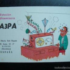 Radios antiguas: TARJETA POSTAL QSL RADIOAFICIONADOS - SITGES, BARCELONA, ESPAÑA 1971. Lote 58242713