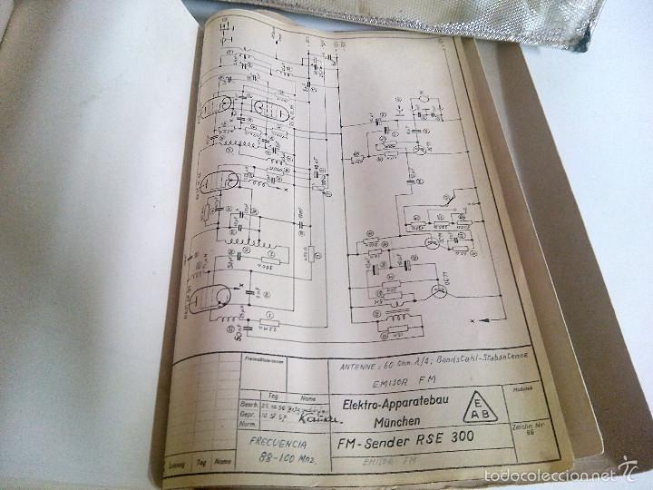 Radios antiguas: Emisora portatil vintage FM SENDER RSE 300. ELEKTRO APPARATEBAU MUNCHEN - Foto 11 - 194300457
