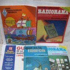 Radios antiguas: LOTE DE 4 REVISTAS Y LIBRO DE RADIOAFICCIÓN. Lote 59814948