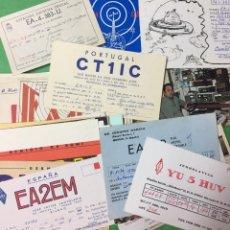 Radios antiguas: LOTE COLECCIÓN DE 40 TARJETAS DE LA UNIÓN RADIO AFICIONADOS - URE - -AÑOS 50/80 - RADIOAFICIONADOS. Lote 67675273