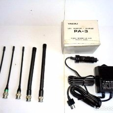 Radios antiguas: CARGADOR YAESU PA-3 Y 5 ANTENAS WALKIE TALKIE. Lote 68461265