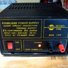 Radios antiguas: FUENTE DE ALIMENTACIÓN ZETAGI 142. STABILIZED POWER SUPPLY.. Lote 69697673
