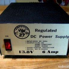 Radios antiguas: FUENTE DE ALIMENTACIÓN 8 A. AMERICAN CB 27. DC POWER SUPPLY. Lote 69697773