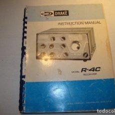 Radios antiguas: MANUAL DE INSTRUCCIONES DRAKE R-4C RECEIVER. Lote 69799461