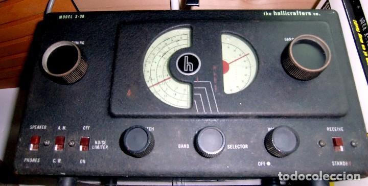 RECEPTOR A VÁLVULAS HALLICRAFTERS (USA) MODELO S38 AÑOS 40. BUENA CONSERVACIÓN Y FUNCIONANDO !! (Radios, Gramófonos, Grabadoras y Otros - Radioaficionados)