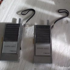 Radios antiguas: PAREJA WALKIE-TALKIES. TRANSCEIVER PUNTO AZUL. 7 TRANSISTOR. WALKIE-TALKIE . Lote 76390427