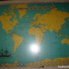 Radios antiguas: ANTIGUO MAPA MUNDIAL DE RADIOAFICIONADO - TRIO KENWOOD. Lote 81247936