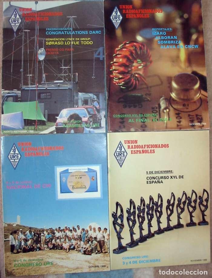 Radios antiguas: LOTE DE 11 REVISTAS 1988 - URE / UNIÓN DE RADIOAFICIONADOS ESPAÑOLES - VER FOTOS - Foto 4 - 87508256