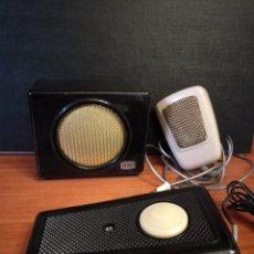 Radios antiguas: ALTAVOZ. MICROFONO, PEDAL DE EMISORA O RADIO ANTIGUA. Lote 89302436