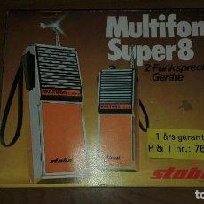 Radios antiguas: PAREJA DE MULTIFON SUPER 8 (NUEVOS EN SU CAJA ORIGINAL ). Lote 93601930