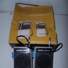Radios antiguas: SOLID STATE WALKIE TALKIE CHANNEL MASTER. Lote 96617295
