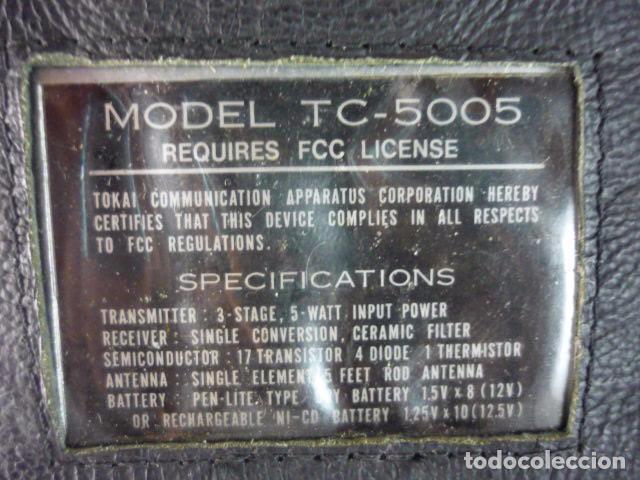 Radios antiguas: Transceptor TOKAI TC-5005 - Japan - 2 Unidades - Con Manual - Foto 8 - 96701847