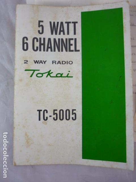 Radios antiguas: Transceptor TOKAI TC-5005 - Japan - 2 Unidades - Con Manual - Foto 10 - 96701847