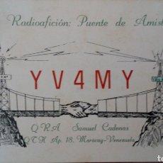 Radios antiguas: TARJETA POSTAL RADIO AFICIONADO AÑO 1965. CON SELLOS. MARACAY. VENEZUELA. Lote 96771756