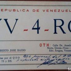 Radios antiguas: TARJETA POSTAL RADIO AFICIONADO AÑO 1967. ESTADO ARAGUA. VENEZUELA. Lote 96771966