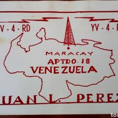 Radios antiguas: TARJETA POSTAL RADIO AFICIONADO AÑO 1967. MARACAY. VENEZUELA . Lote 96772112