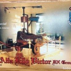 Radios antiguas: TARJETA POSTAL QSL RADIO-AFICIONADO AKV ASTURIAS EL MADREÑO GIRO. Lote 99695583