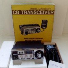 Radios antiguas: EMISORA RADIOAFICIONADO MAXCOM VI,CB TRANSCEIVER AM,FM,SOLID STATE,NUEVA.. Lote 145369754