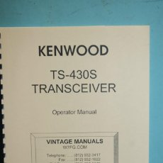 Radios antiguas: MANUAL KENWOOD . . Lote 107436935