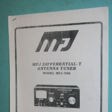 Radios antiguas: MANUAL MFJ-986. Lote 107438763