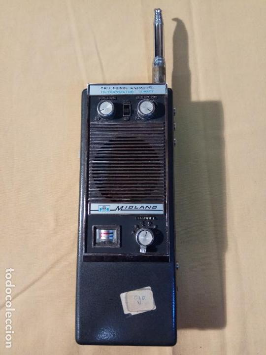 ANTIGUO WALKIE TALKIE MIDLAND MADE IN JAPAN MOD. 13 - 760 segunda mano