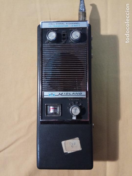 Radios antiguas: ANTIGUO WALKIE TALKIE MIDLAND MADE IN JAPAN MOD. 13 - 760 - Foto 5 - 110244411