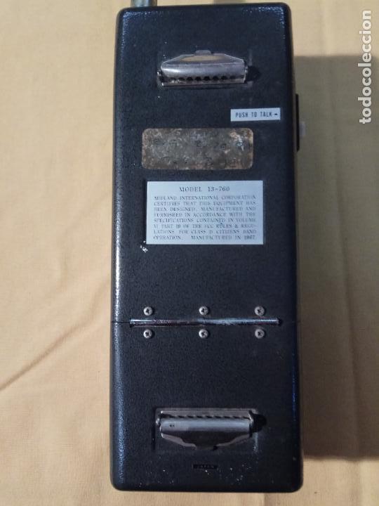 Radios antiguas: ANTIGUO WALKIE TALKIE MIDLAND MADE IN JAPAN MOD. 13 - 760 - Foto 7 - 110244411