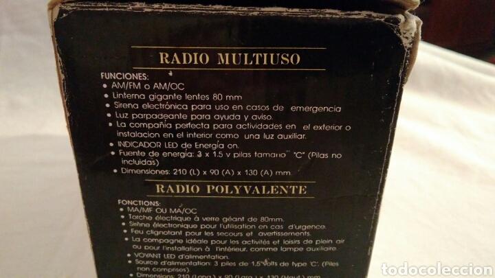 Radios antiguas: RADIO AM/FM CON LINTERNA, SIRENA, LUZ PARPADEANTE, MARCA INTERNATIONAL - Foto 9 - 111461432