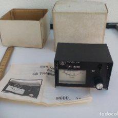 Radios antiguas: SWR METER FOR CB TRANSCEIVER MODEL 20 TRANSCEIVER . Lote 115619095