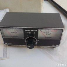 Radios antiguas: MEDIDOR DE POTENCIA MONACOR FSI-5 STEHWELLEN-MESSGERÄT CB SWR. Lote 115621231