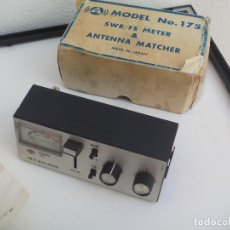 Radios antiguas: SWR/FS METER & ANTENNA MATCHER MODEL NO. 175. MADE IN JAPAN. MEDIDOR, ANTENA ?. Lote 139724894