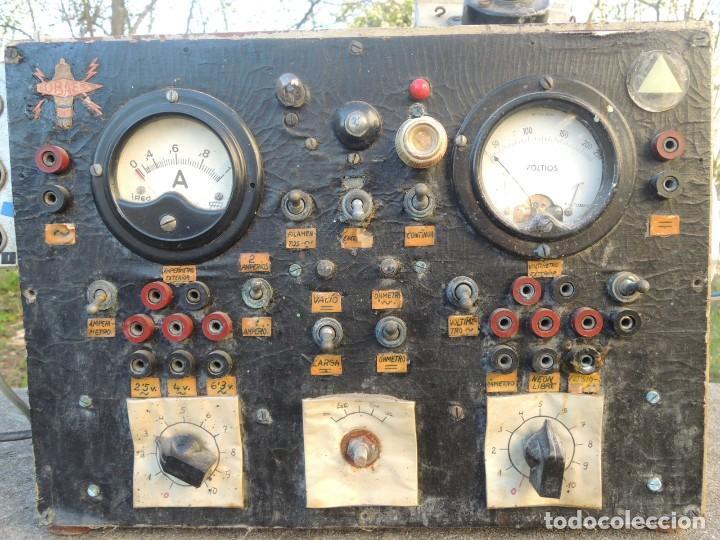 Radios antiguas: RADIO AMPLIFICADOR RARO DE LA MARCA LUBAES CON VÁLVULAS - Foto 3 - 127970086